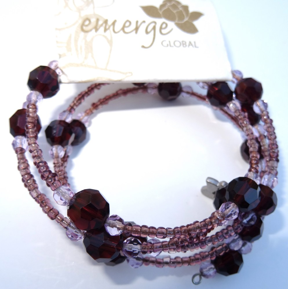 bella product she stone anna purple semi precious bracelet